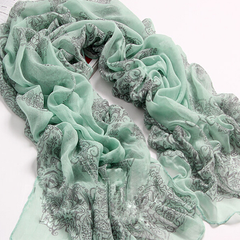 Chiffon Porcelain Style Scarf and Shawl - Assorted Colors - BoardwalkBuy - 2