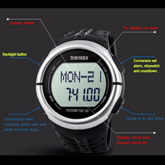 Skmei 1058 LED Sports Watch With 3D Pedometer and Heart Rate Monitor - BoardwalkBuy - 9