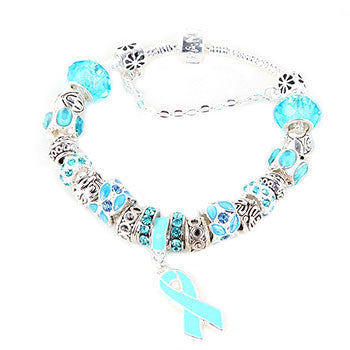 Blue Ribbon Awareness Bracelet