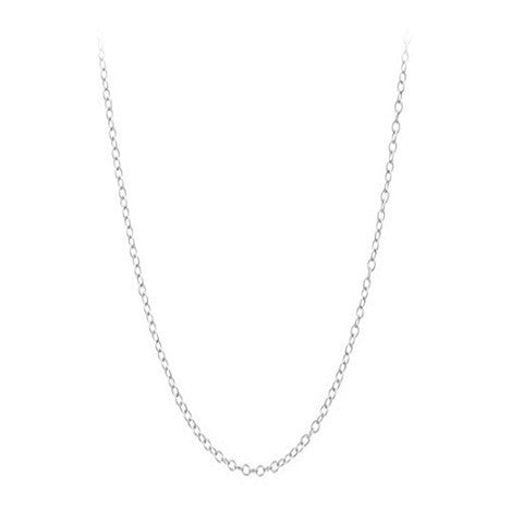 "Sterling Silver 18"" Cable Chain"