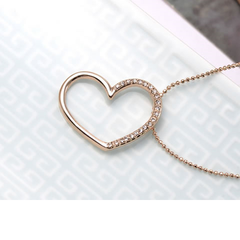 Gold Plated Horizontal Heart Pendant