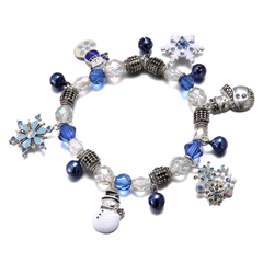 I Love Winter Charm Bracelet