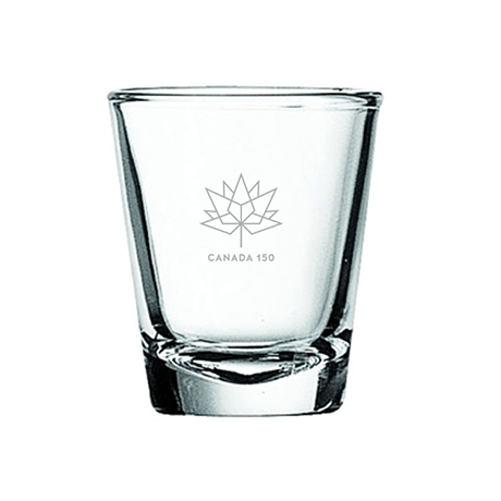 Canada 150 2 oz. Shooter Glass