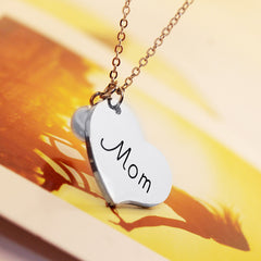 Mom Pearl Heart Pendant