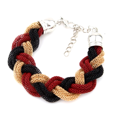 Red Chain Row Bracelet