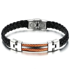Strong Rope Stainless Steel Men's Bracelet
