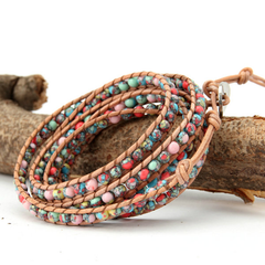 Beautiful Colourful Mess Wrap Bracelet