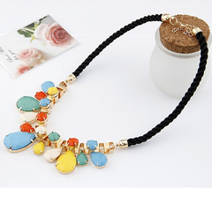 Rain Drop Statement Necklace