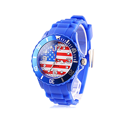 Watch with Silicone Strap - Multiple Countries