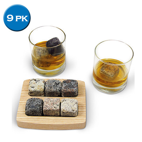 9 Pack Multi-Colored Whiskey Ice Stones