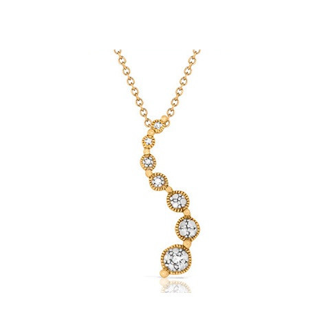 Diamond Accent Journey Pendant in Gold-Plated Sterling Silver