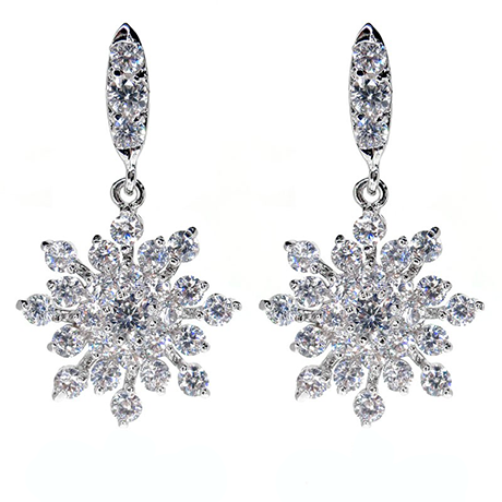 Crystal Studded Flower Earring