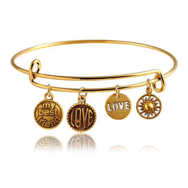 Best Friend Charm Bangle