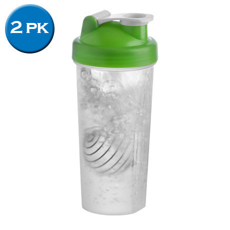 2 Pack: Gym Protein Bottle 600mL - whisk included