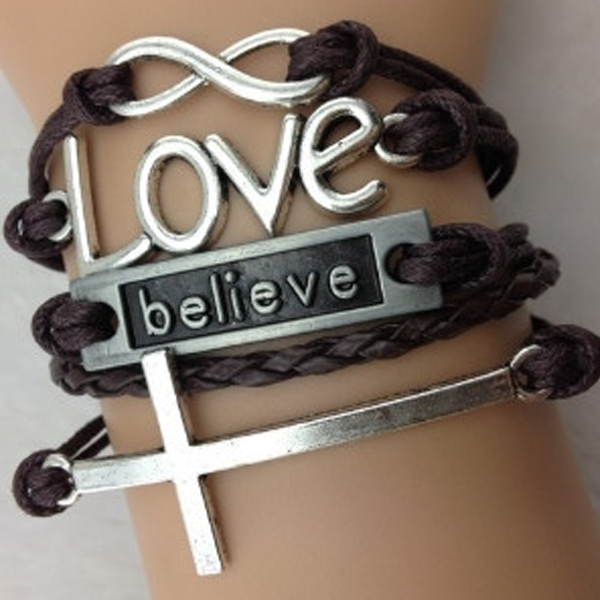 Infinity Love Believe Cross