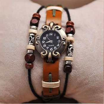 Buddha Beads Leather Watch