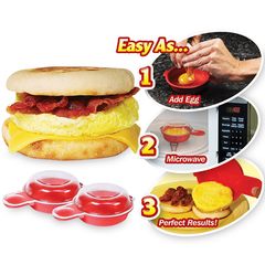 2-Pack Easy Microwave Egg Cooker