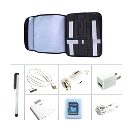 8-Piece iPad Accessory Kit and Organizer