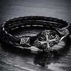 Vintage Cross Men's Bracelet