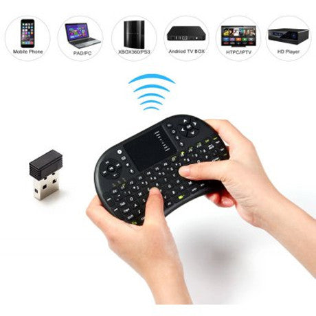 2.4GHz Mini Wireless QWERTY Keyboard Touchpad Mouse Combo