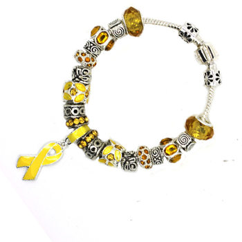 Yellow Ribbon Awareness Bracelet