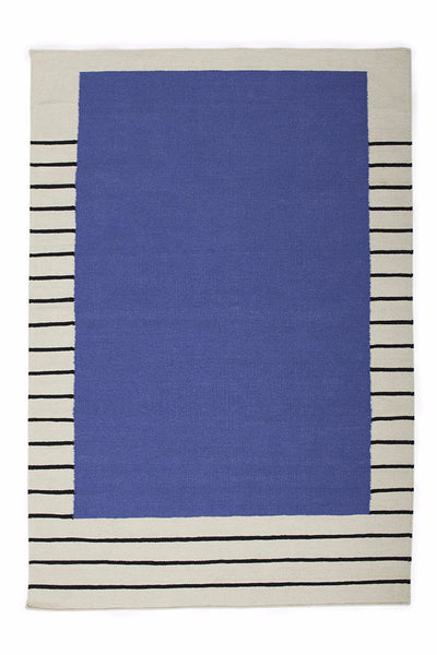 Suzanne Flat-Weave Rug, Periwinkle