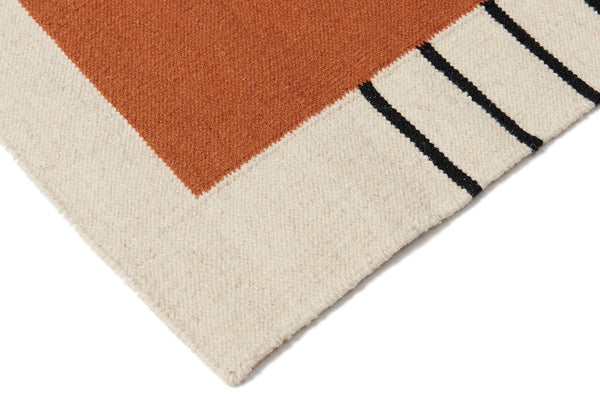 Suzanne Flat-Weave Rug, Rust