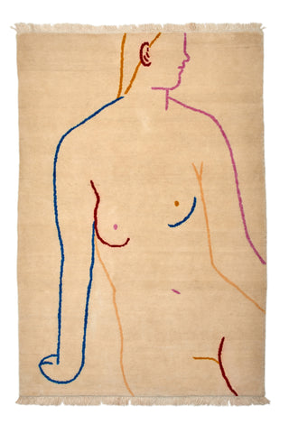 Hand Knotted Figure Rug