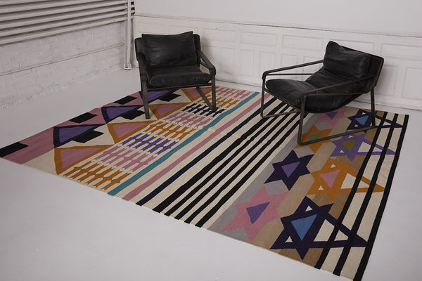 Heat Wave in Rajasthan Flat-Weave Rug