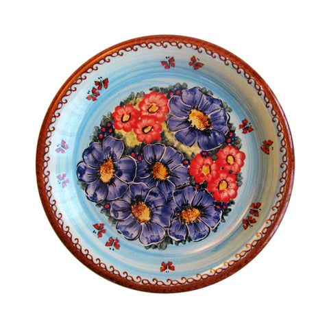 Eva's Collection exclusive Polish Pottery design style Blue Sky Meadow