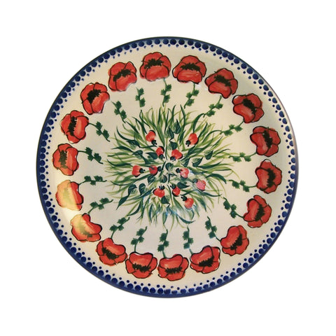 Eva's Collection exclusive Polish Pottery design style Poppy Field