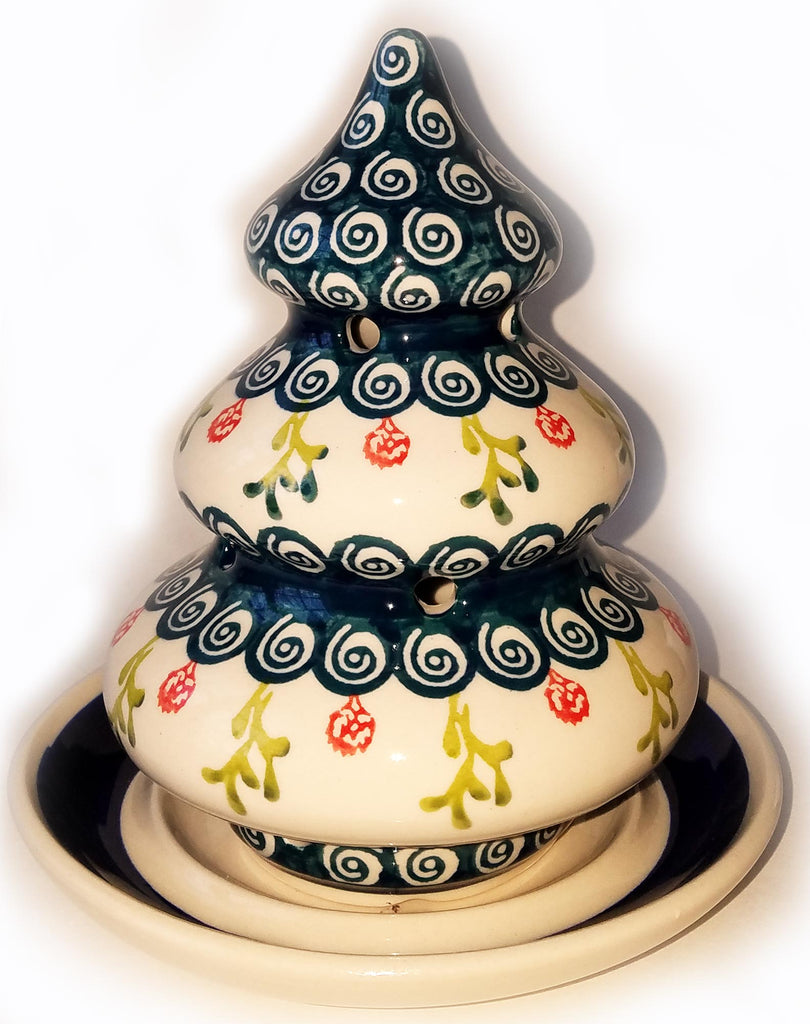 Boleslawiec Polish Pottery Christmas Tree Candle Holder