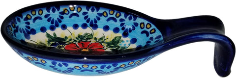 Boleslawiec Polish Pottery UNIKAT Large Spoon Rest