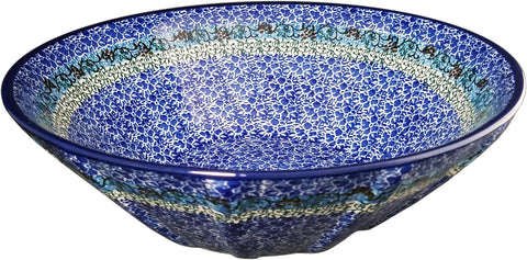Boleslawiec Polish Pottery Large Serving Bowl CA 1647
