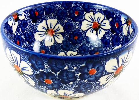 Boleslawiec Polish Pottery Cereal, Chili or Serving Bowl Unikat