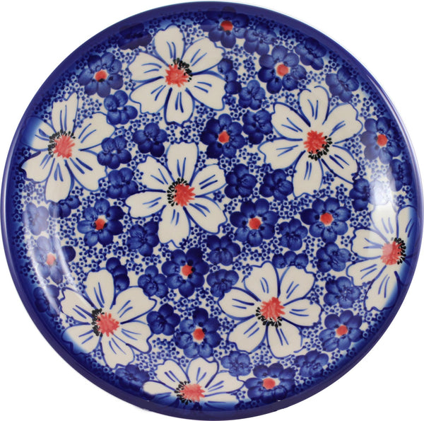"Boleslawiec Polish Pottery 10"" Dinner Plate Unikat ""Haylee Daisy"" by Eva's Collection"