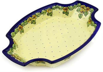 Polish Pottery Medium Fancy PlatterDU83