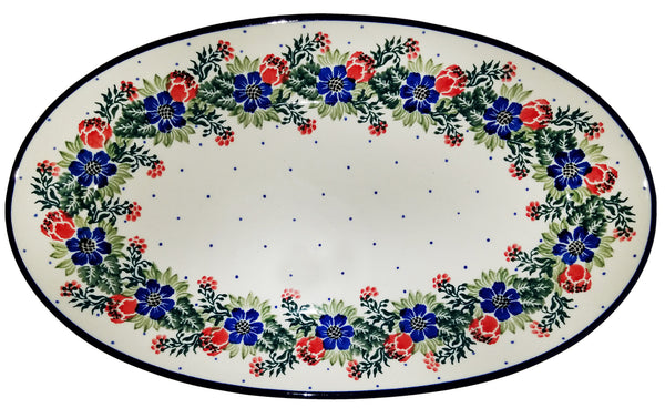 Boleslawiec Polish Pottery Medium Serving Platter 1535