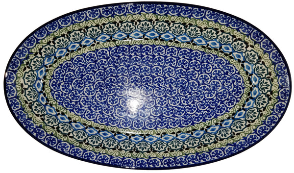 Boleslawiec Polish Pottery Medium Serving Platter 1858
