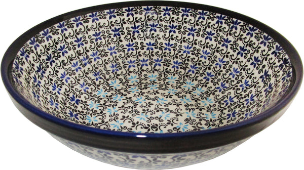 "Boleslawiec Polish Pottery UNIKAT Large Serving or Mixing Bowl ""Martina"""