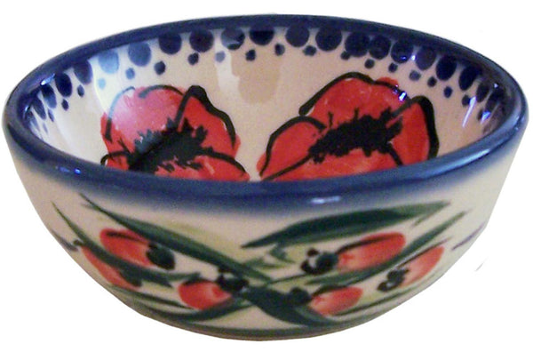 "Boleslawiec Polish Pottery UNIKAT Mini Bowl ""Poppy Field"""