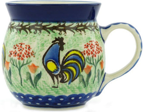 Boleslawiec Polish Pottery 8 oz Coffee or Tea Bubble Mug Unikat 2702