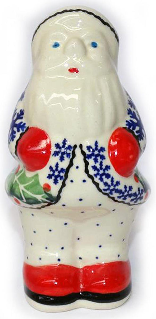 "Boleslawiec Polish Pottery Christmas Decoration - Santa ""Holly"""