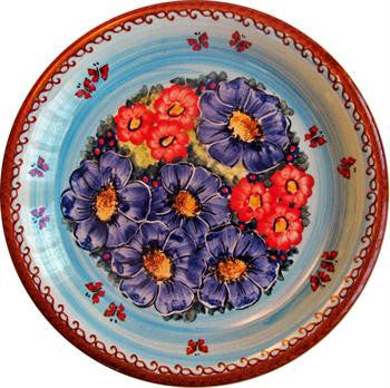 Polish Pottery Dinner PlateBlue Sky Meadow
