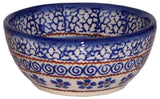 "Boleslawiec Polish Pottery UNIKAT Mini Bowl ""Blue Garden"""