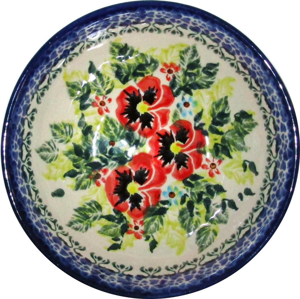 "Boleslawiec Polish Pottery UNIKAT Ice Cream or Condiment Bowl ""Summer Day"""