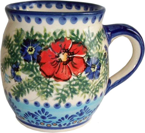 "Boleslawiec Polish Pottery UNIKAT 16oz Coffee or Tea Bubble Mug ""Veronica"""