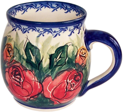 Boleslawiec Polish Pottery UNIKAT 16 oz Coffee or Tea Bubble Mug