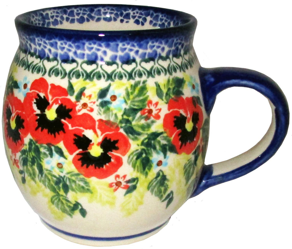 "Boleslawiec Polish Pottery UNIKAT 16oz Coffee or Tea Bubble Mug ""Summer Day"""