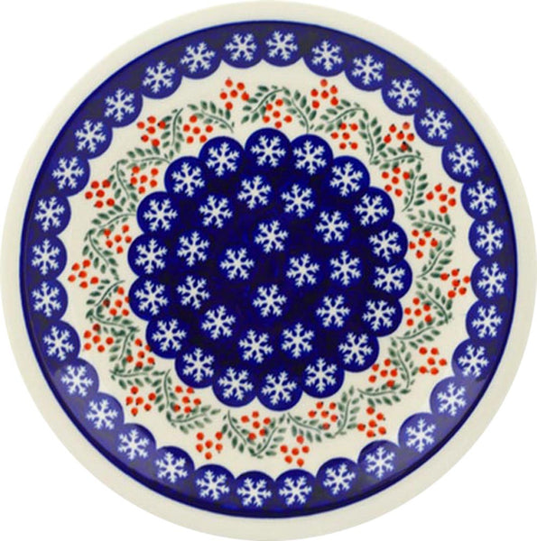 "Boleslawiec Polish Pottery Dinner Plate ""Red Berries"""